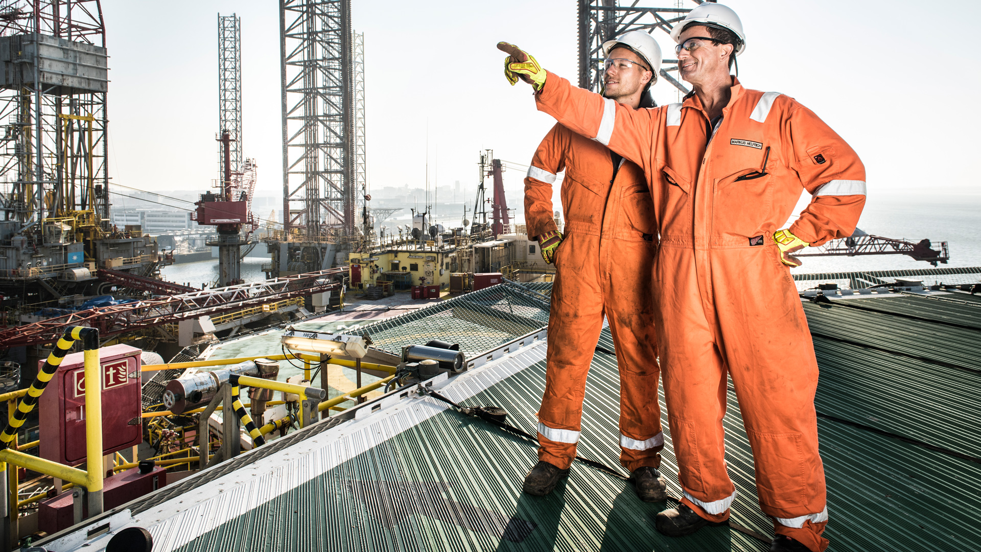 Wintershall Dea employees at work