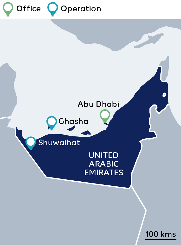 Wintershall Dea Map United Arab Emirates