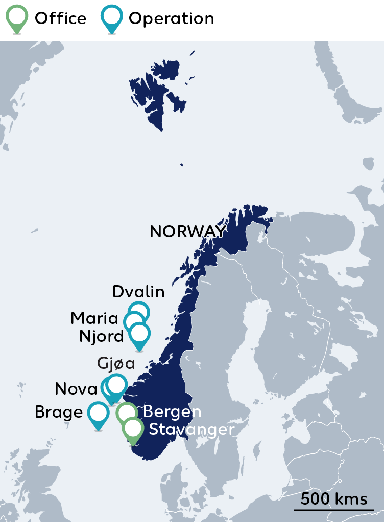 Wintershall Dea Map Norway
