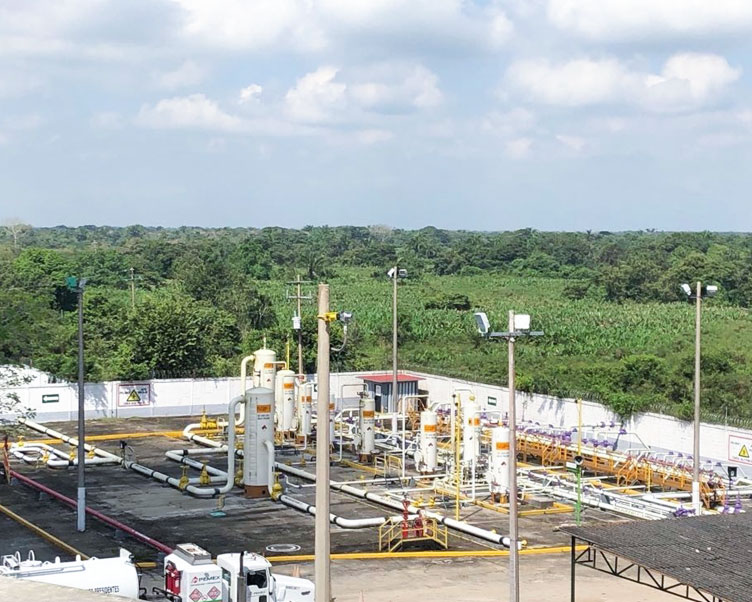 Wintershall Dea Production Site Ogarrio Mexiko