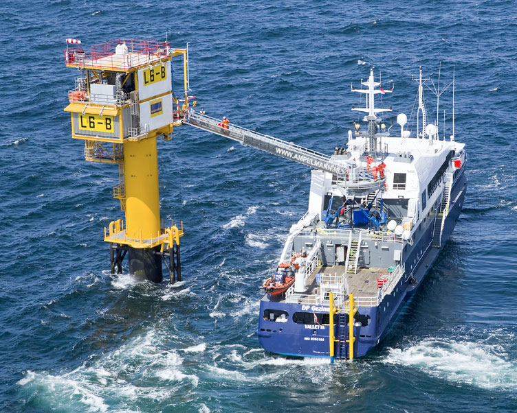 Wintershall Dea Mini-Plattform L6B Nordsee