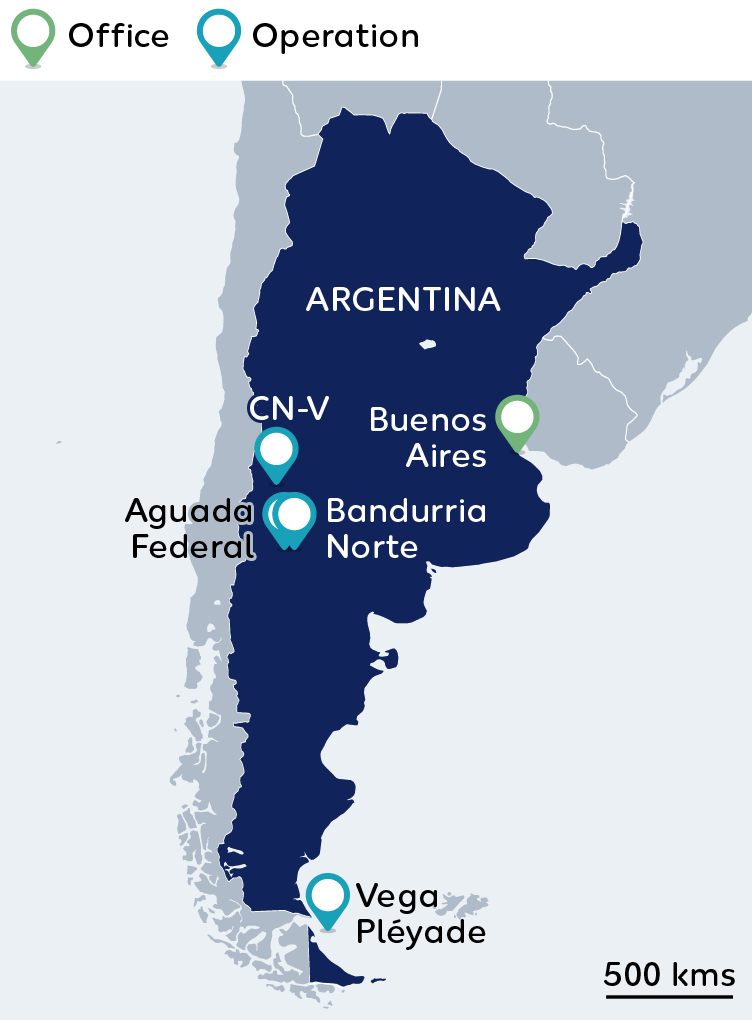 Wintershall Dea Map Argentina