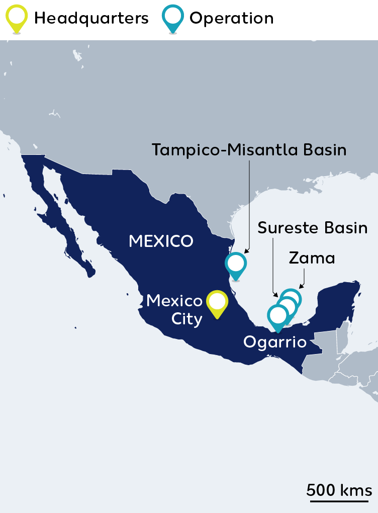 Wintershall Dea Map Mexico