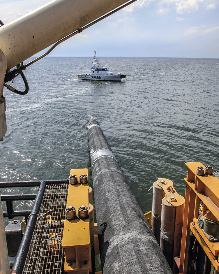 Wintershall Dea Nord Stream Pipeline under Construction