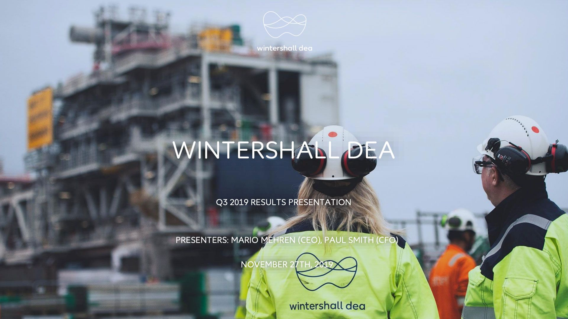 Q3 Results Video Wintershall Dea